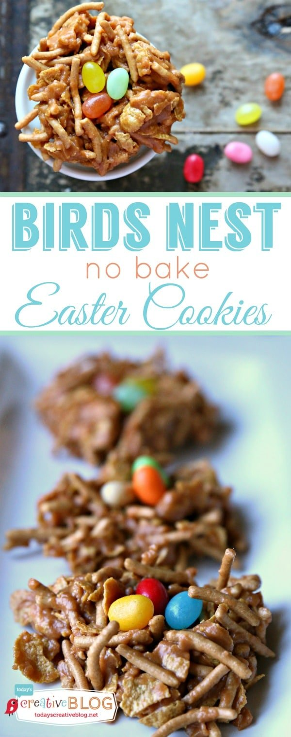 Birds Nest No Bake Easter Cookies by Todays Creative Life
