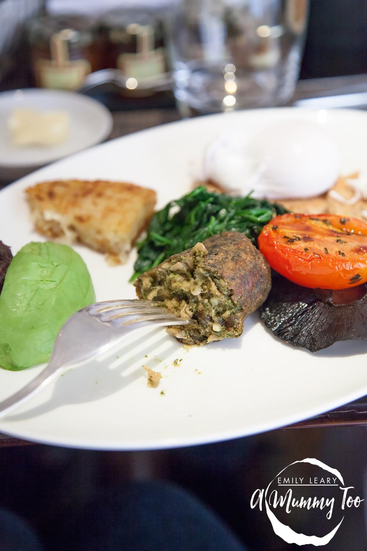 One-Aldwych-Indigo-Restaurant-breakfast-veggie-sausage