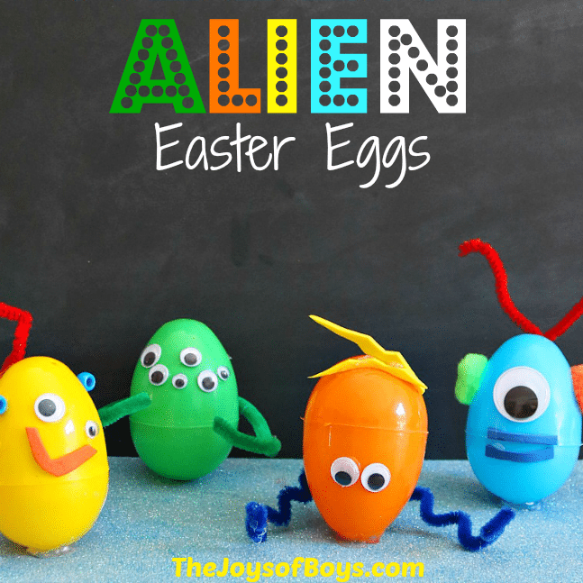 alien easter eggs by the joys of boys