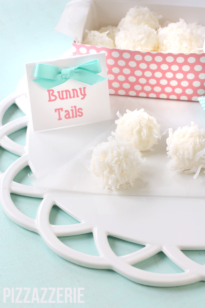 bunny tail treats by pizzazzerie