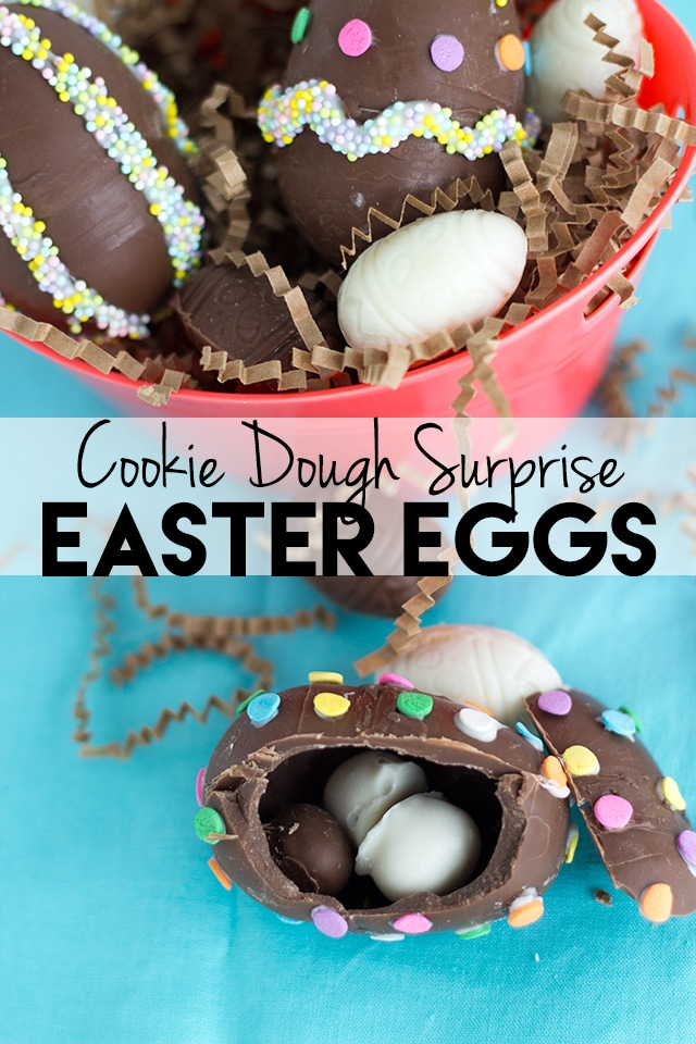 cookie dough surprise easter eggs by cookie dough and oven mitt