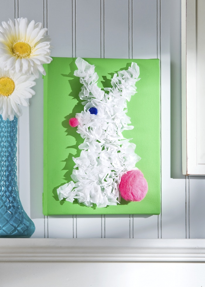 easter bunny canvas by mod podge rocks