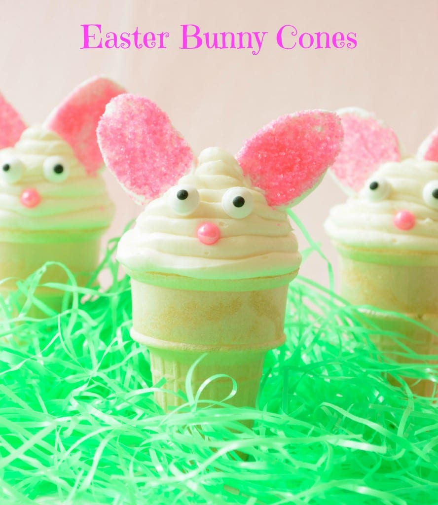 easter bunny cones by almost supermom
