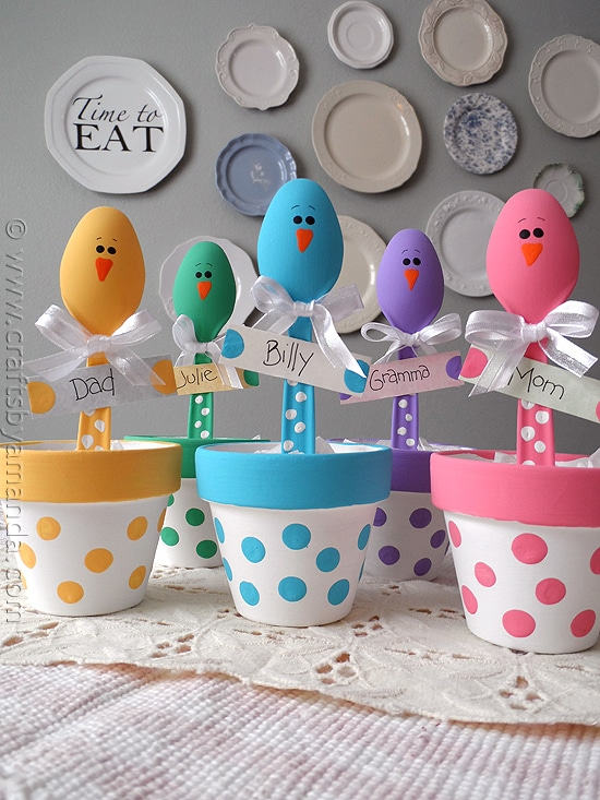 easter chick placeholders by crafts by amanda