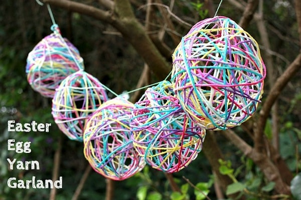 easter egg yarn garland by mod podge rocks