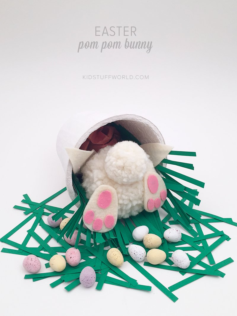 easter pom pom bunny by kids stuff world