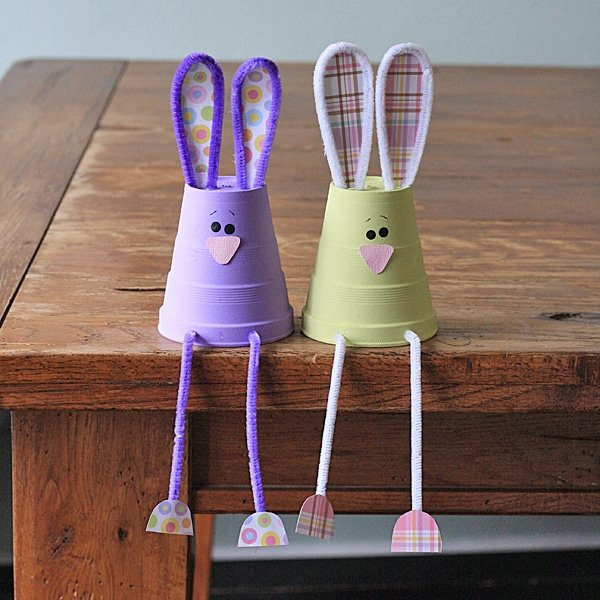 foam cup bunnies by crafts by amanda