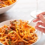 One pot slow cooked beef ragu linguine