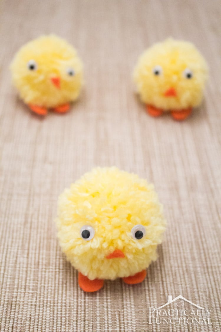 pom pom chicks by practically functional