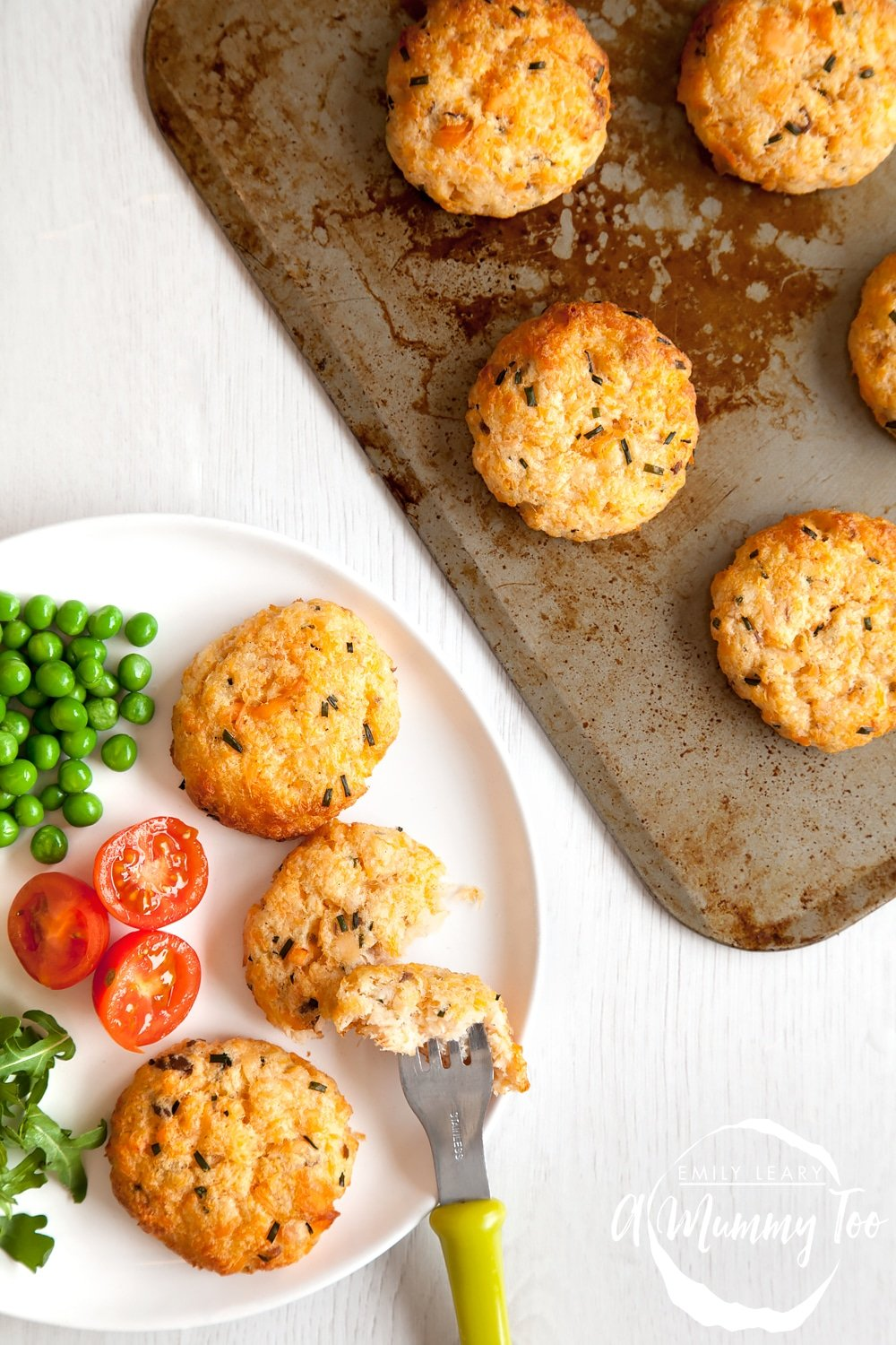 Easy, homemade salmon fishcakes and no need to crumb them first! And they're baked not fried!