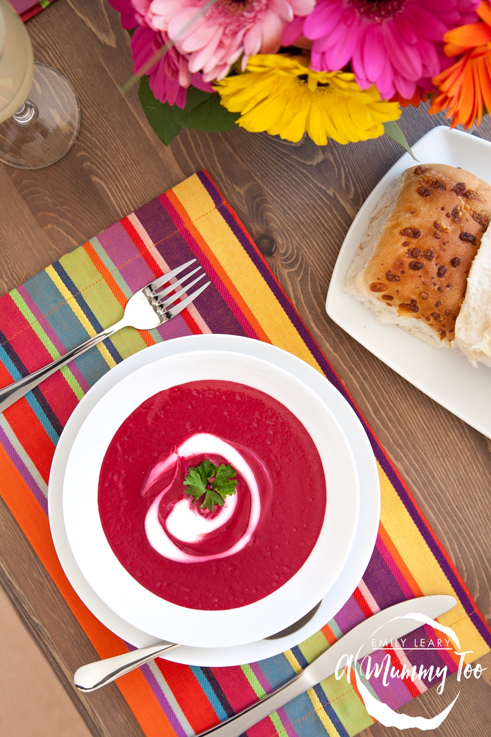 This roasted beetroot soup features beetroot and cauliflower for a delicious flavour combination