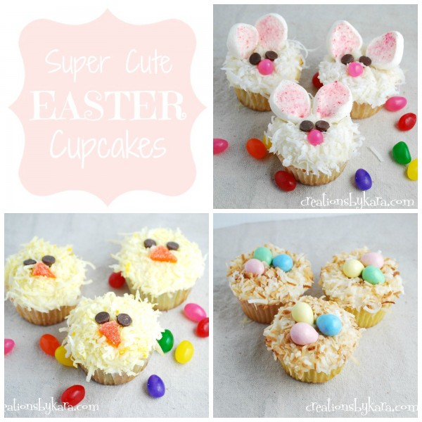 super cute easter cupcakes by creations by kara