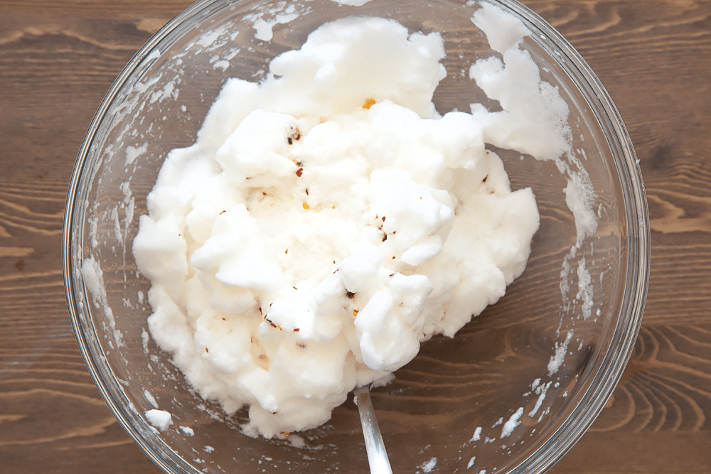 Egg whites with chilli