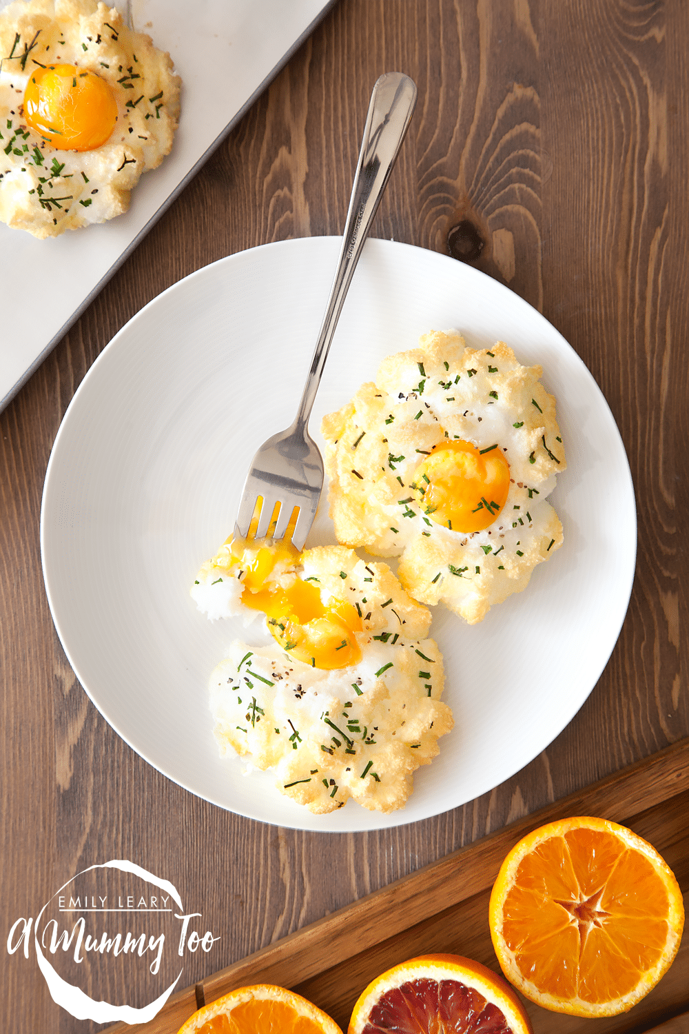 Eggs in Clouds - look at that yolk! These are delicious served with a sprinkle of salt and pepper