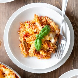 30-minute Quorn™ Meat Free Steak Strips pasta bake
