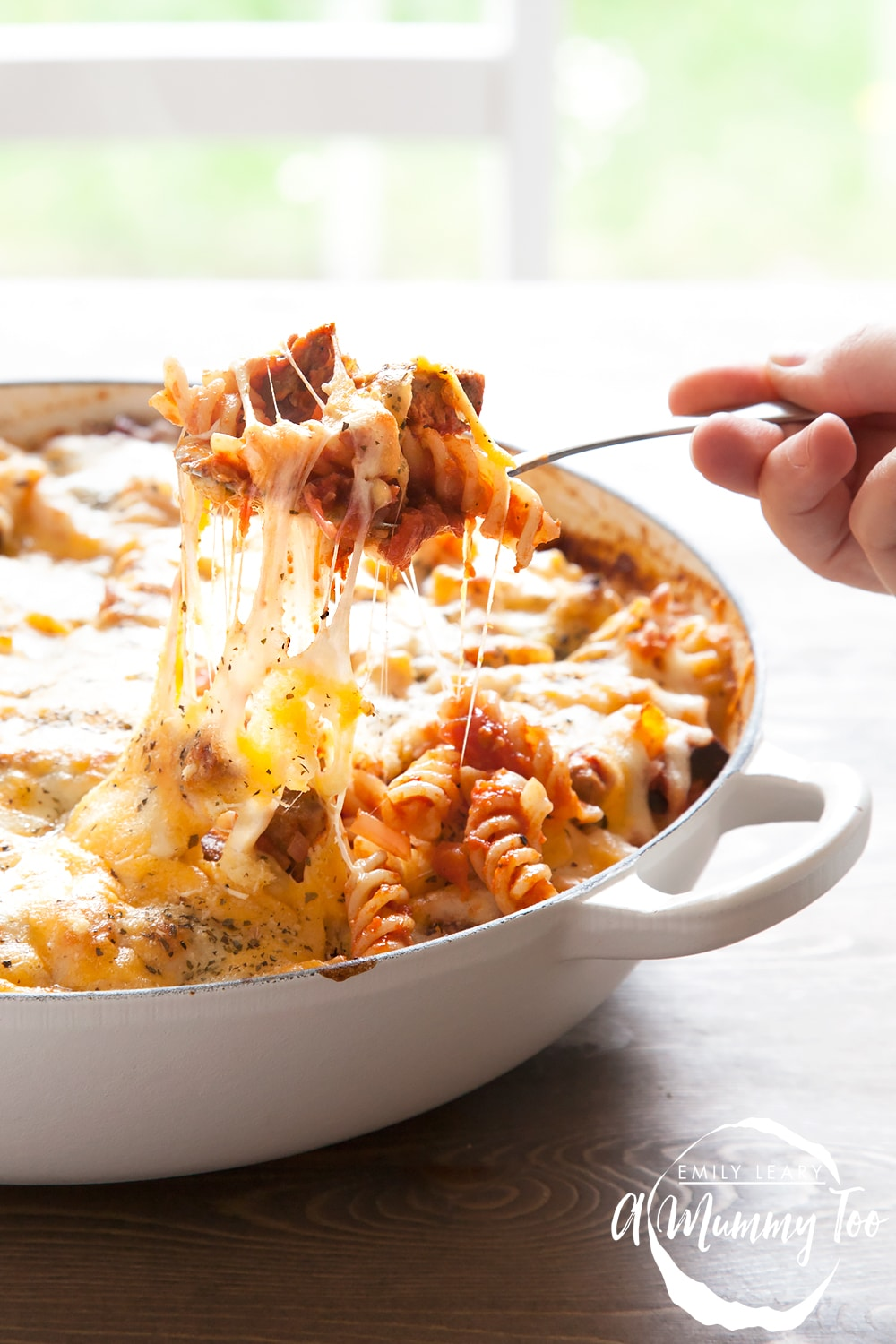A delicious twist on the classic sausage pasta bake, this dish packs a flavourful punch with garlic, herbs and moreish Quorn Meat Free Steak Strips.