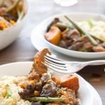 Slow cooked lamb and sweet potato casserole