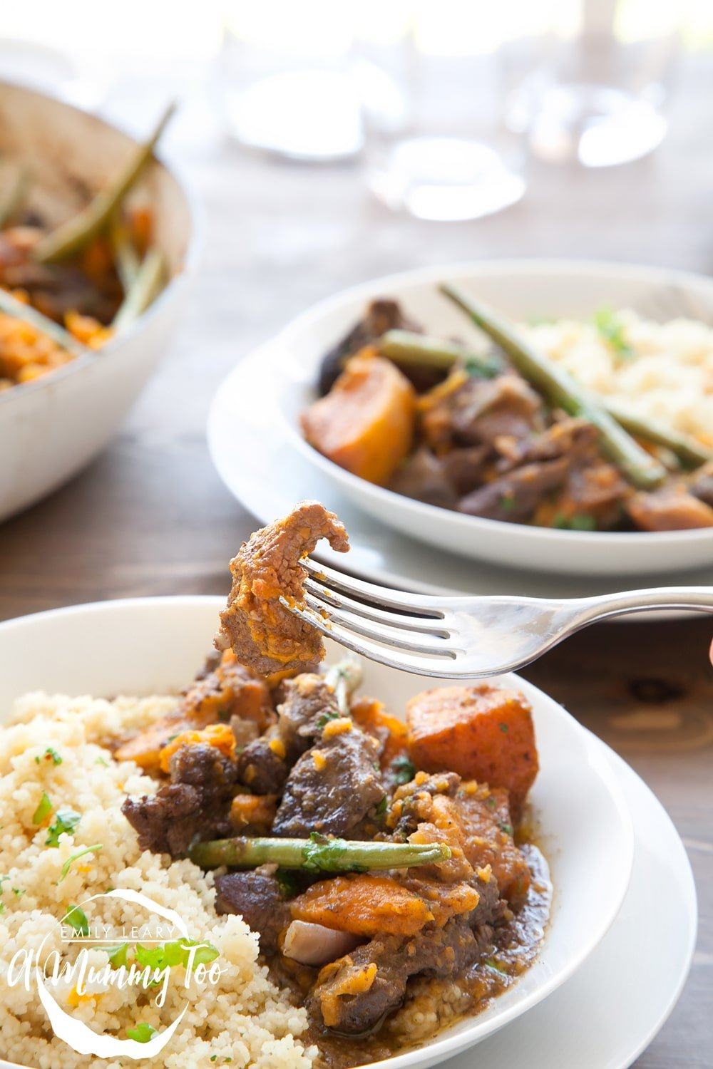 You'll love this deliciously warming casserole, made with sweet potato, lamb and green beans, gently spiced with Moroccan notes and slow cooked until the lamb melts in the mouth.