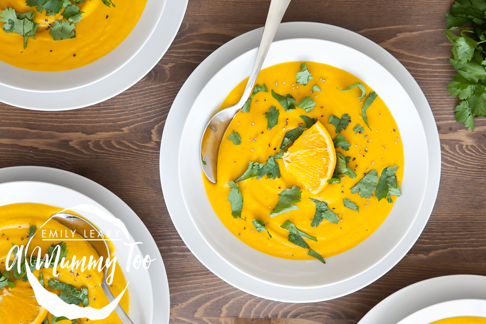 This carrot and orange soup is packed with goodness, full of flavour and fun to make. You can thicken or thin it to your preference, and it's happy in the freezer.