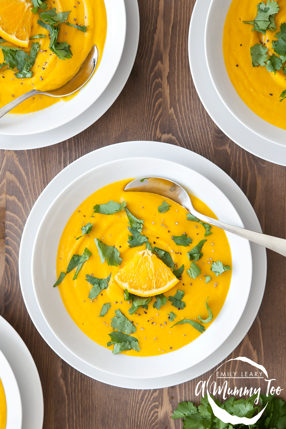 Orange, red lentil and roast carrot soup. This soup is perfect for everyone from babies to grown ups!