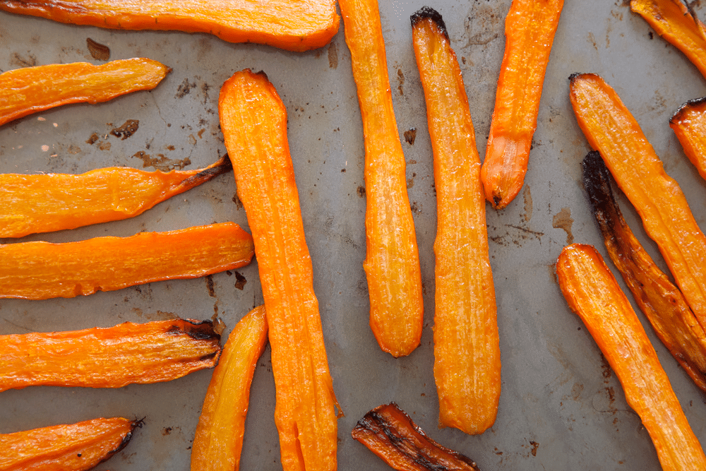 Roasted carrots, a key ingredient for your carrot and orange soup