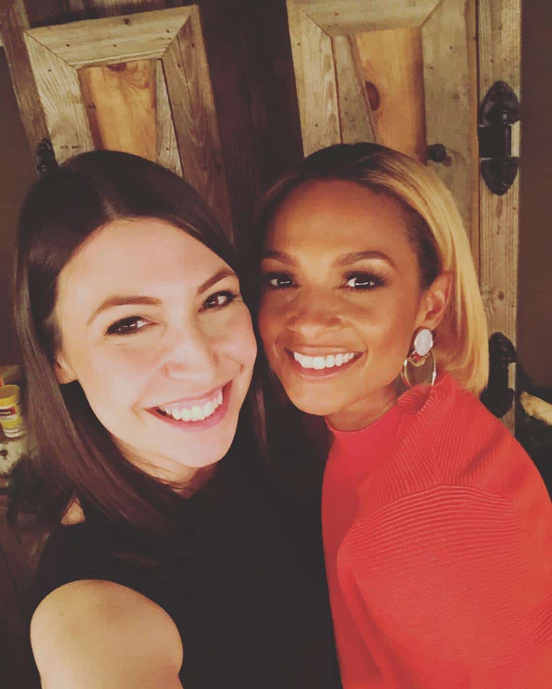 Emily Leary and Alesha Dixon