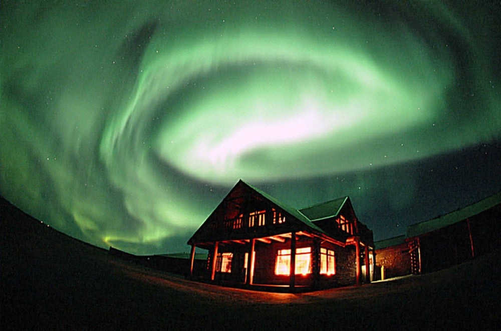 Northern lights Hotel Rangá
