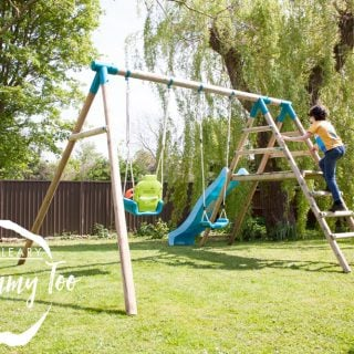 Turn your garden in an adventure playground with a Plum Create Your Own Swing Set (review + giveaway)