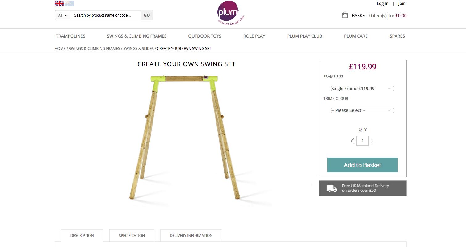 Plum Create Your Own Swing Set Screenshot 1