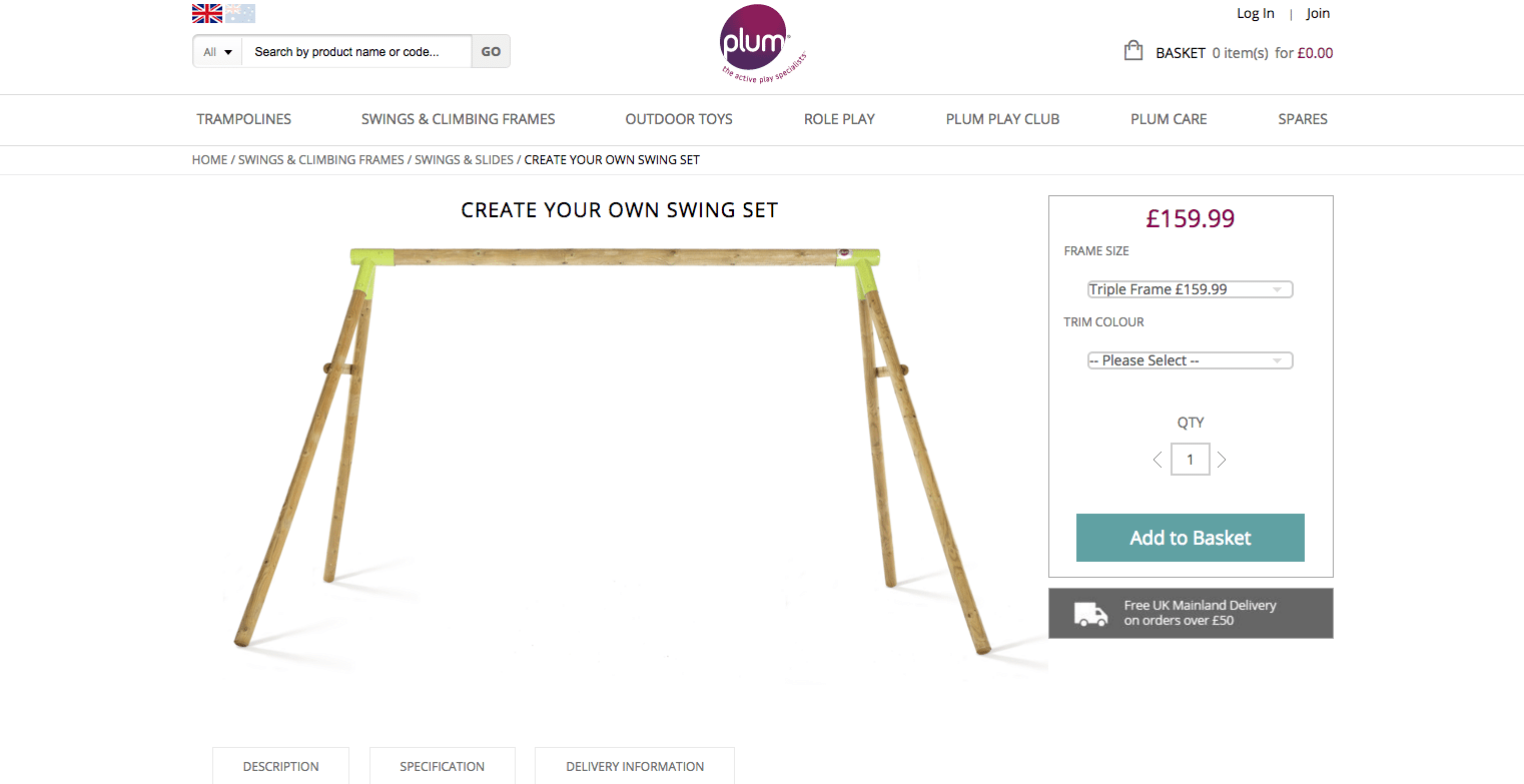 Plum Create Your Own Swing Set Screenshot 2