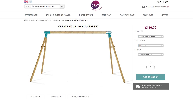 Plum Create Your Own Swing Set Screenshot 3
