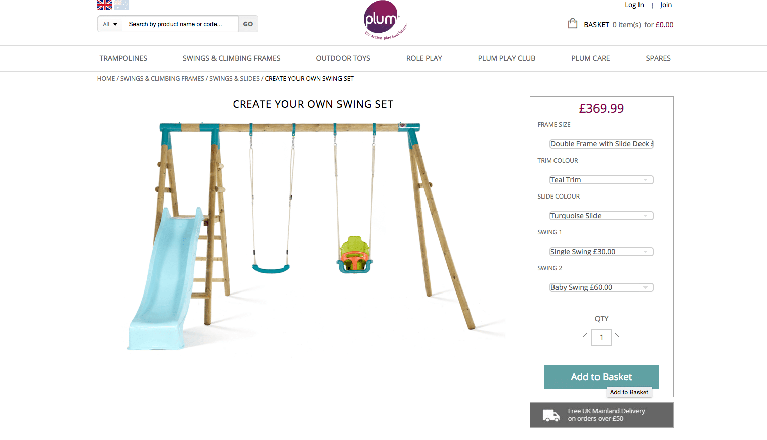 Plum Create Your Own Swing Set Screenshot 7