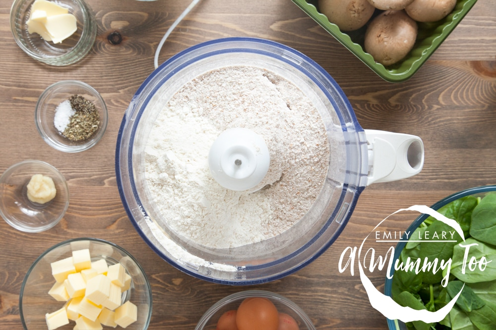 Start with the flour to make your pastry