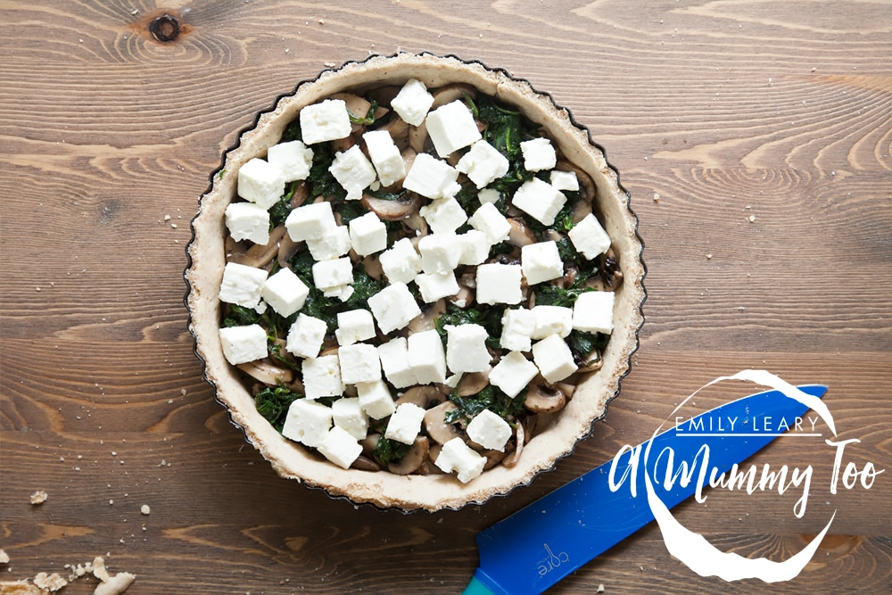 Top your quiche with feta