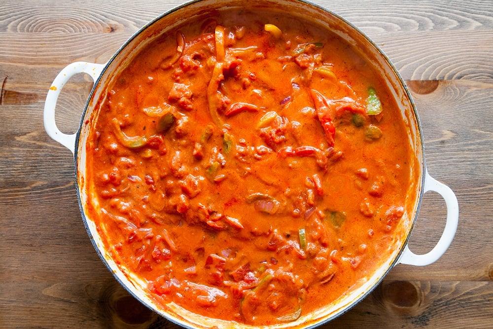 Homemade spicy tomato sauce