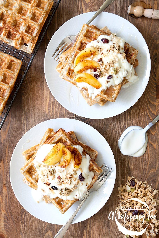Granola waffles recipe