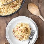 15-minute meat-free Carbonara (using Quorn™ Meat Free Bacon Lardons)
