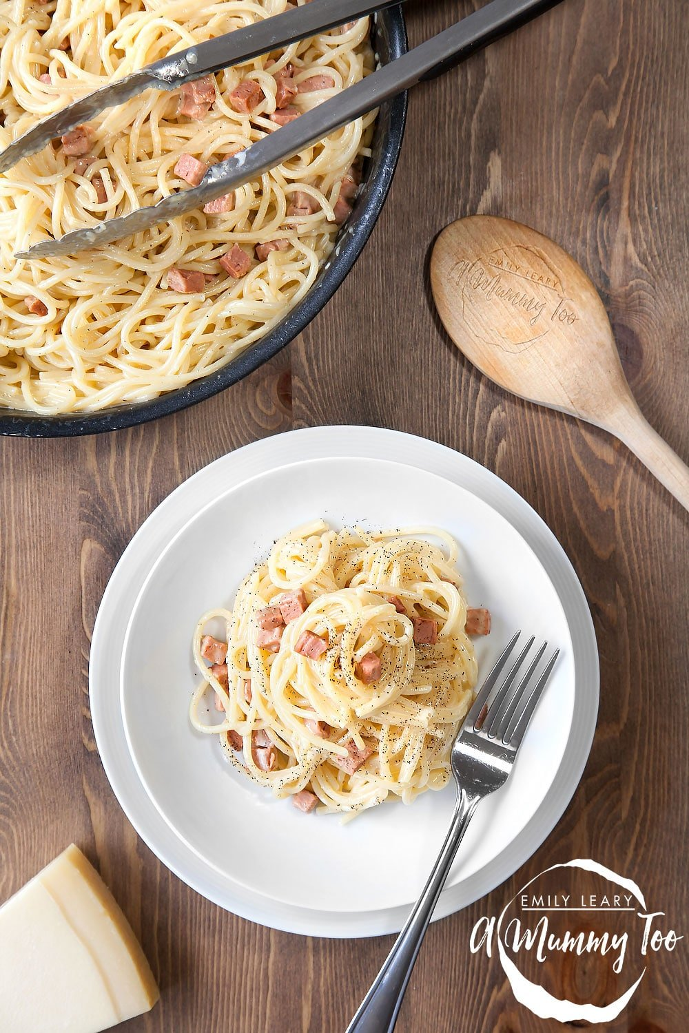 A tasty meat-free spaghetti carbonara that's ready in 15 minutes