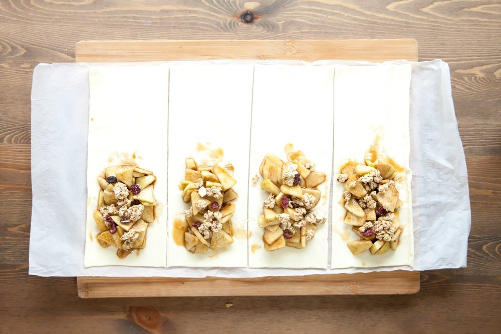 Sprinkle the apple topping with Nature's Path fruit and nut granola