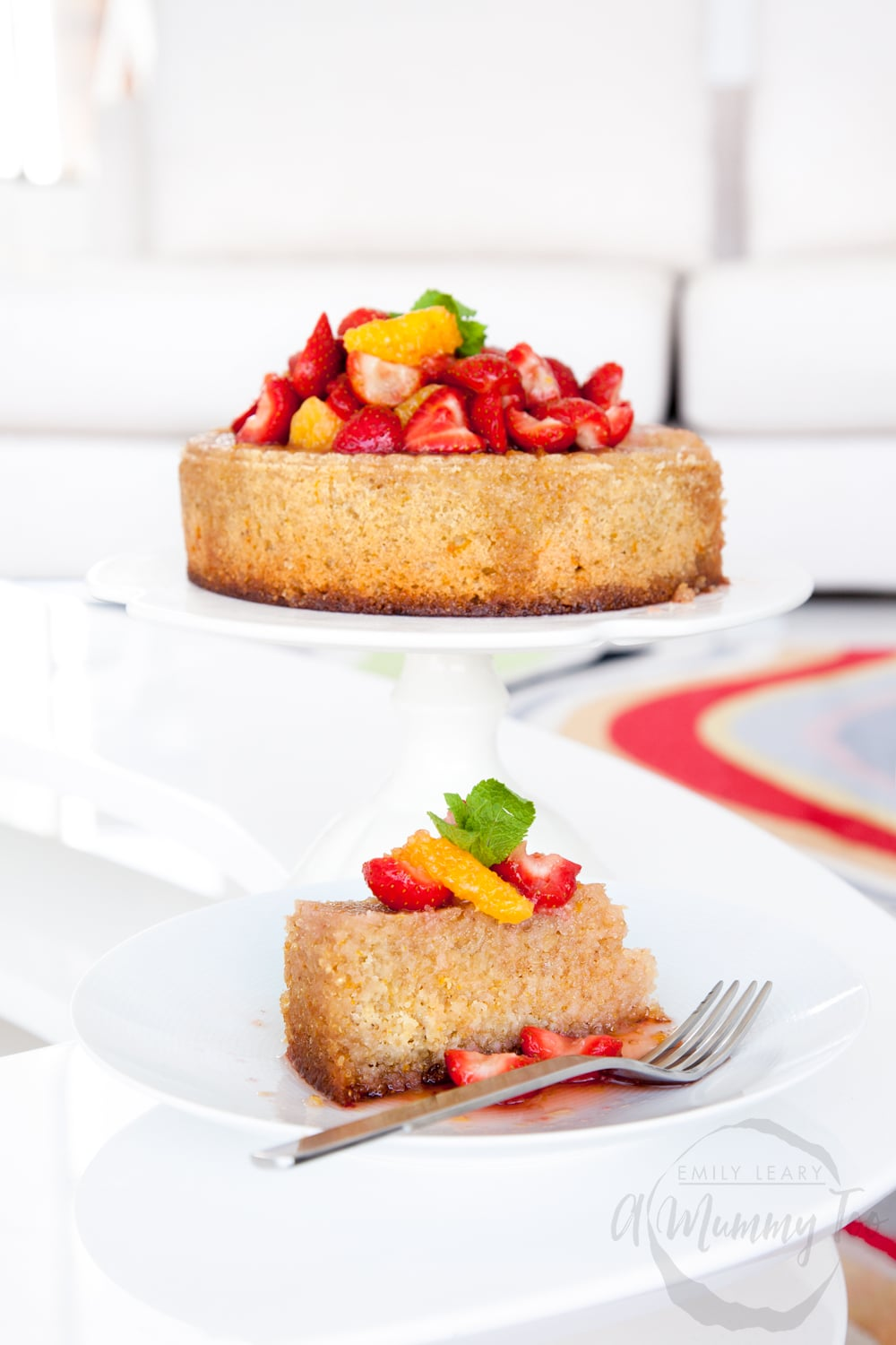 Delicious orange, almond and quinoa cake - a dairy free, gluten free cake made with Pura coconut oil blend