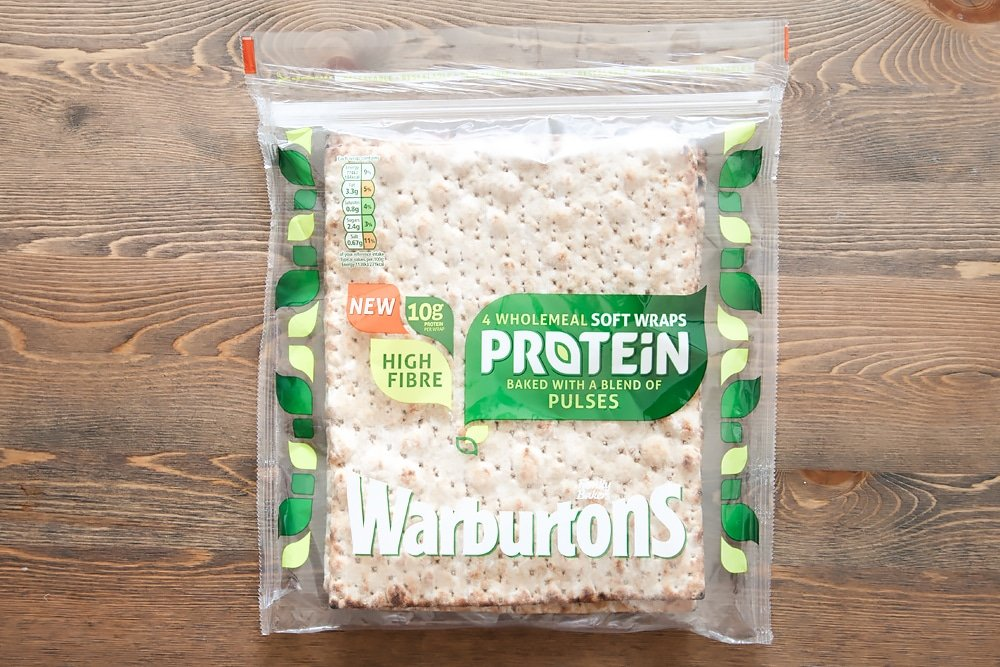 Warburton's wholemeal protein wraps