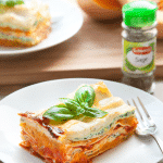 Butternut squash, spinach and ricotta lasagne