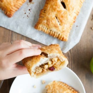 Super easy, extra delicious apple and granola puff parcels