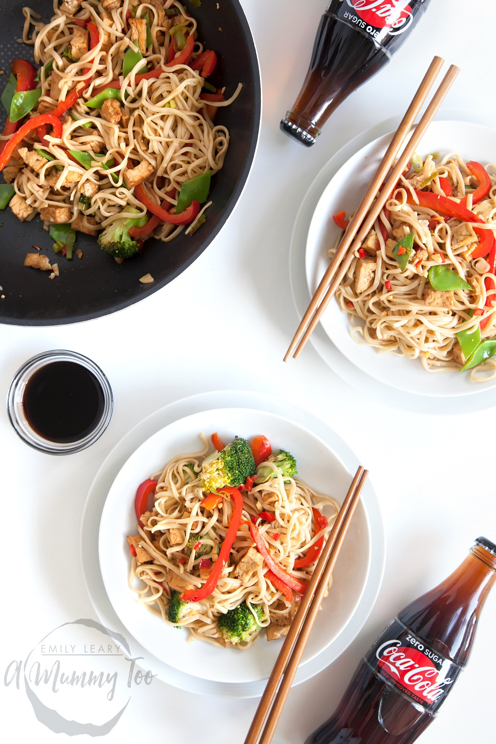 Serve your Coca-Cola Zero Sugar tofu and vegetable noodle stir fry with cold Coca-Cola Zero Sugar and enjoy!