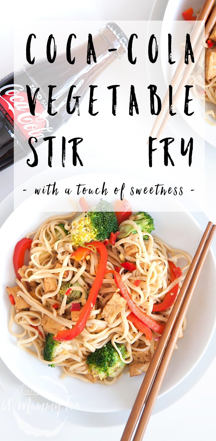 Coca-Cola Zero Sugar tofu and vegetable noodle stir fry - a nutritious stir fry with a touch of sweetness! #recipe #stirfry #cocacola