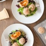 Easy tomato risotto balls with a smoked cheese centre – perfect for Cook with Your Kids Day