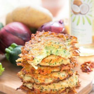 Spicy courgette (zucchini) latkes