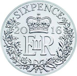Royal Mint Six Pence 2016