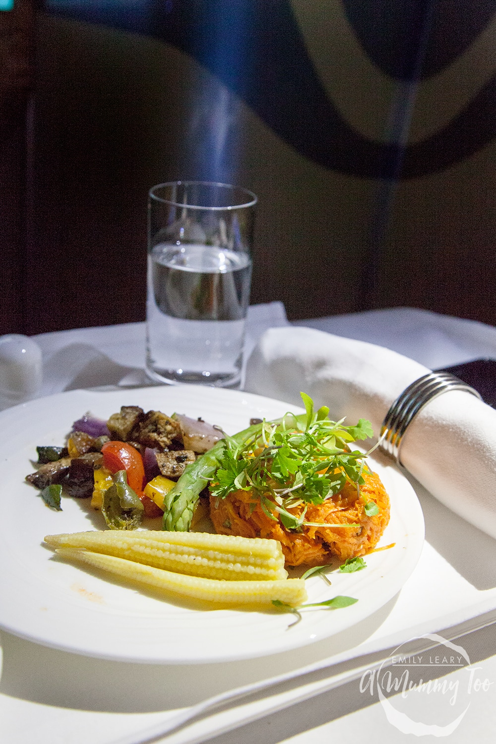 emirates-flight-to-dubai-business-class-cold-salad-starter