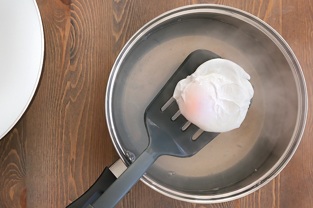Poach your egg using your favourite method